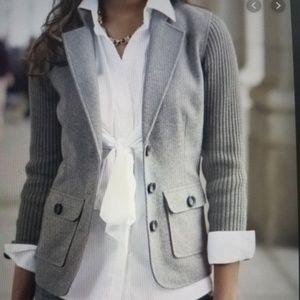 CAbi Grey Wool Blend Blazer
